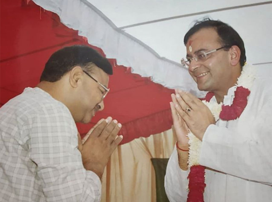 Gupta with Arun Jaitley in an undated picture.