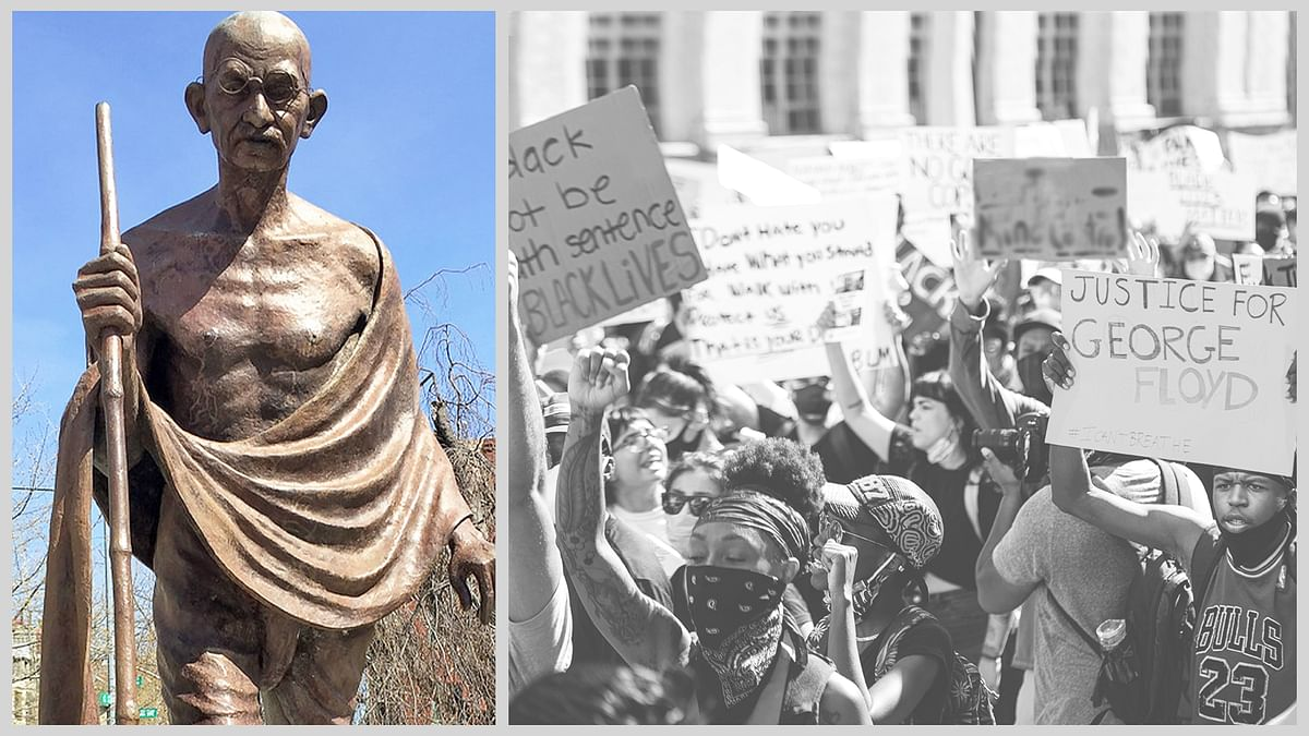 अश्वेतों के प्रदर्शन में गांधी की प्रतिमा क्षतिग्रस्त होने के मायने