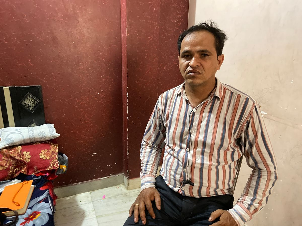 Azad Saifi at his home in Northeast Delhi's Ghonda.