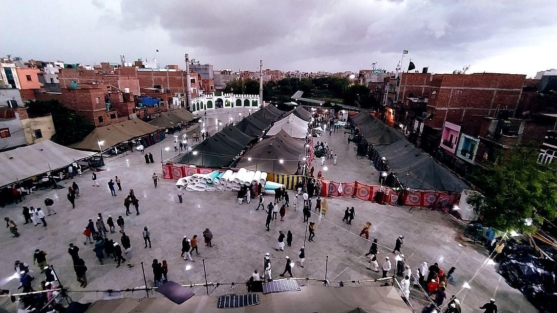 न्यू मुस्तफाबाद स्थित राहत शिविर जहां रहे दंगा पीड़ित
