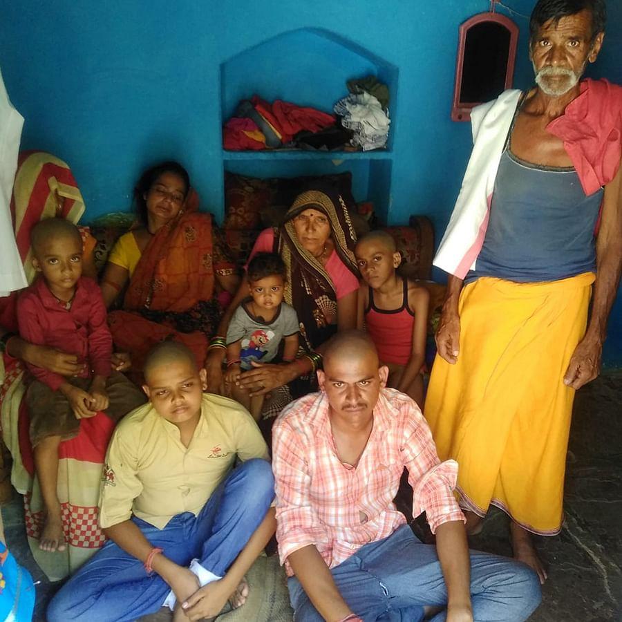 Sunil Tiwari's family.