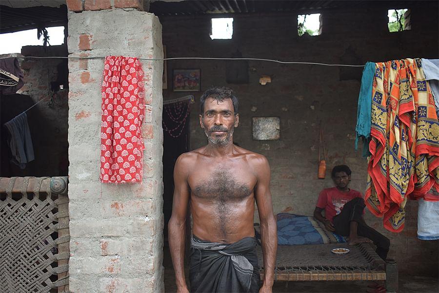 Narayan in his village in Subeha, Barabanki