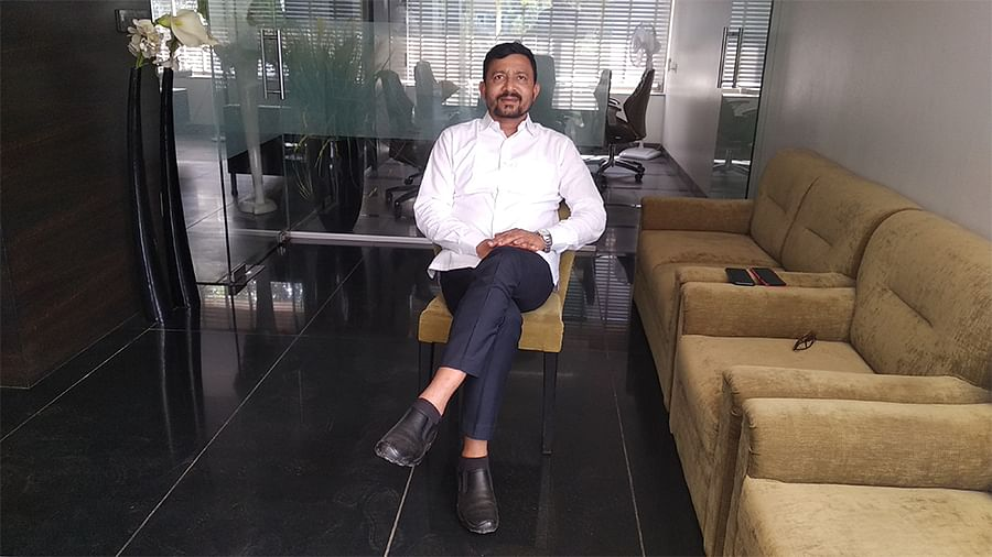 Abhay Shedke, who runs a hotel and two restaurants in Shirdi.