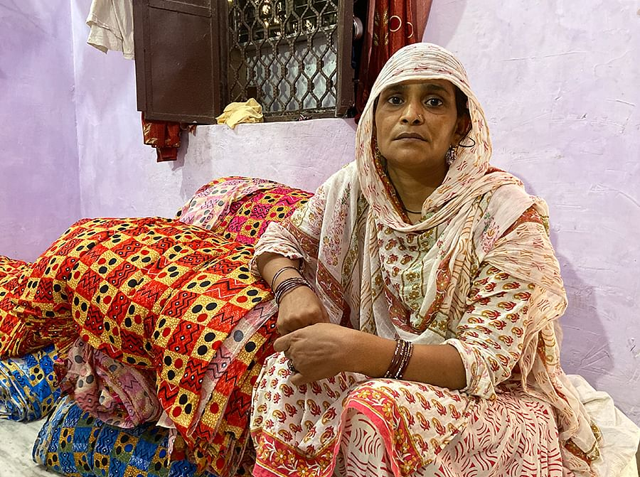 Irshad's mother Rehana at her home in New Mustafabad.