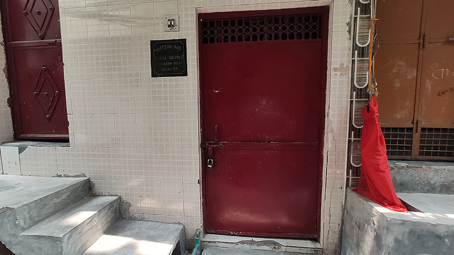 Locked homes of those in Subhash Mohalla who were notified by the police about their alleged involvement in the carnage.