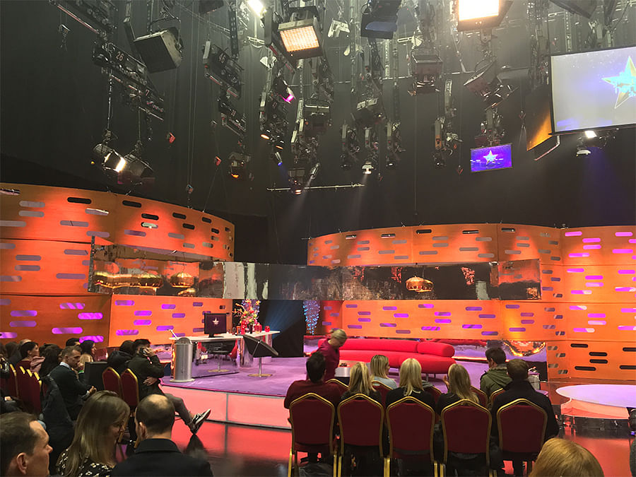 On the set of The Graham Norton Show.