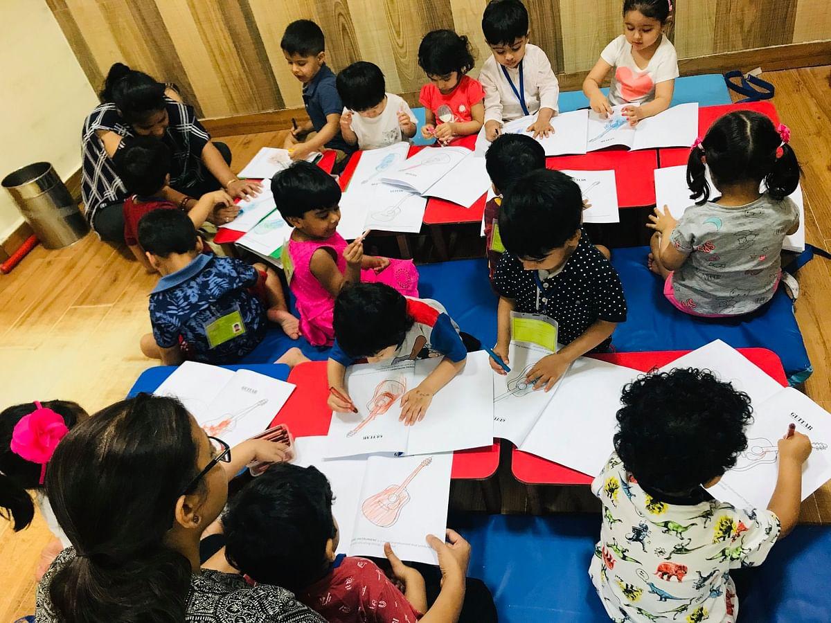 A classroom of MMI school.