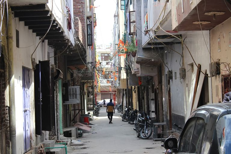 The street in Subhash Mohalla where Singh and Tantry were assaulted.