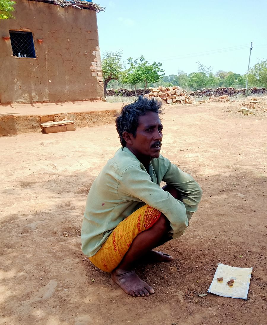 Puran Adivasi, a footloose migrant from Sahariya tribe in Kunwarpur village.