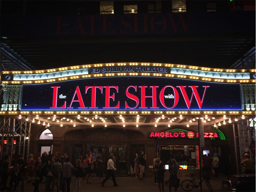 The iconic Ed Sullivan Theater where The Beatles' US debut performance took place. It has been the home of The Late Show since 1993.