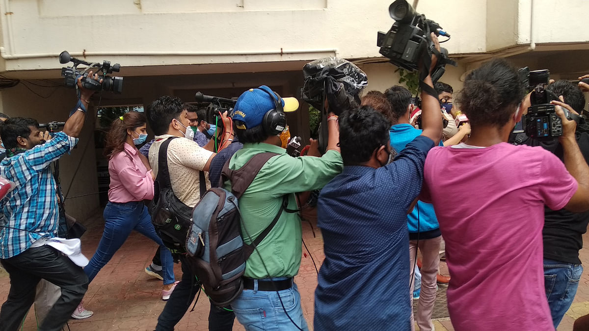 Media circus: A day with reporters outside Rhea Chakraborty's house
