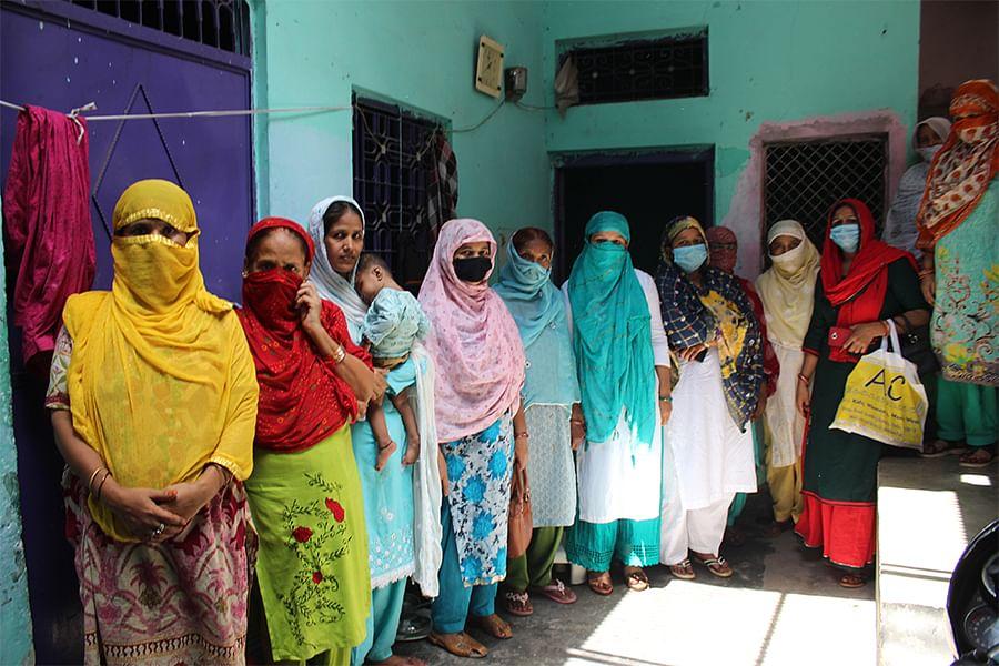 The women of lane 2, Subhash Mohalla in Northeast Delhi's Ghonda