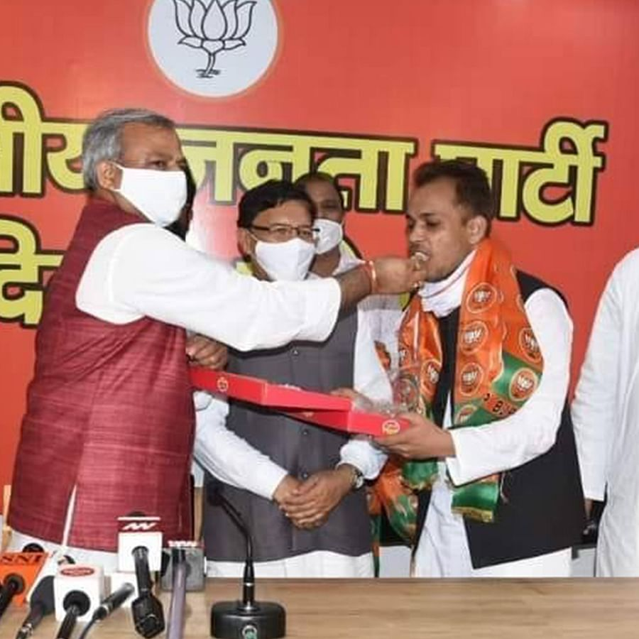 Shahzad Ali joins the BJP.