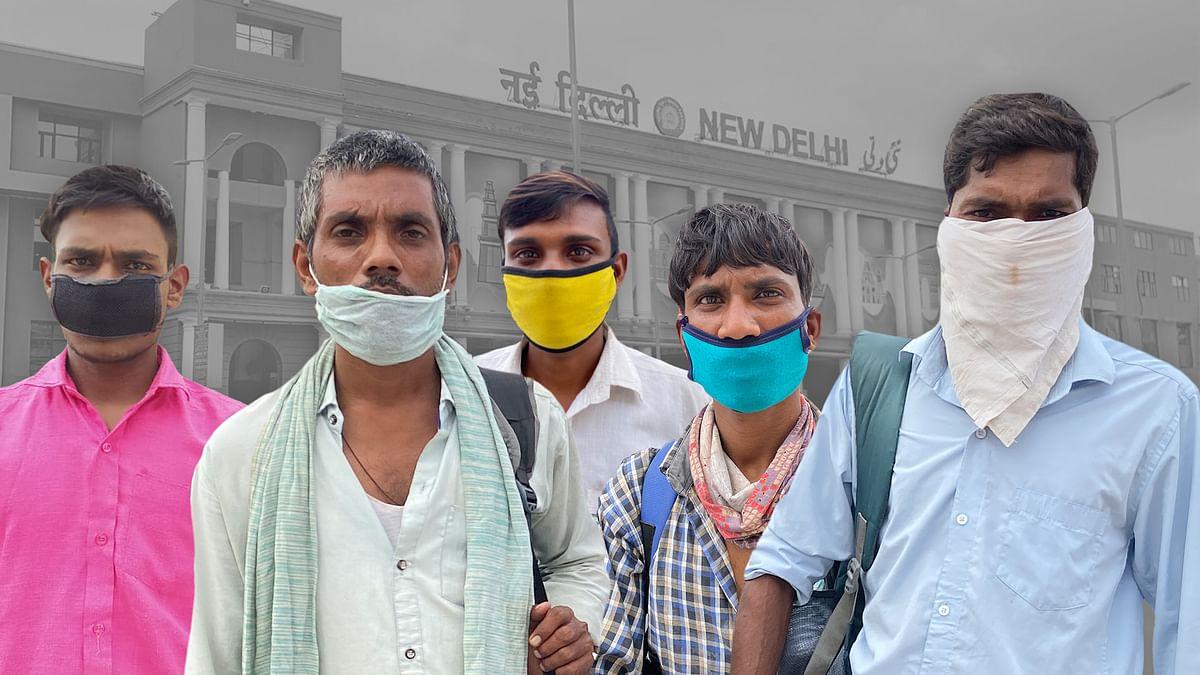 नई दिल्ली रेलवे स्टेशन पर हर दिन उत्तर प्रदेश से लौट रही मजदूरों की भीड़