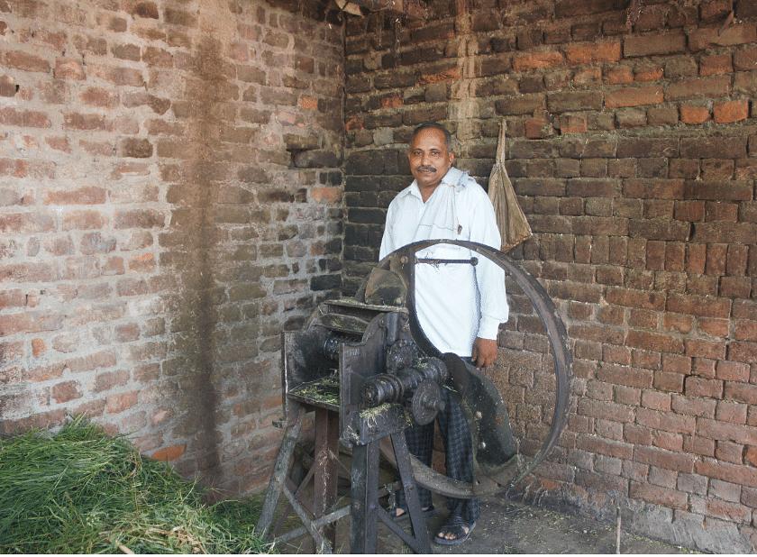 The grass-cutting machine in Randhir Saini's house.