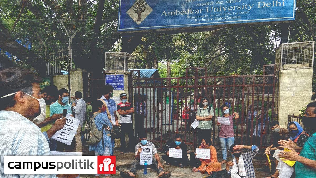 Students protest as Ambedkar University seeks to end blanket fee waiver for marginalised communities