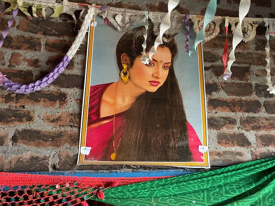 Neha had decorated the house for her engagement in June-July.