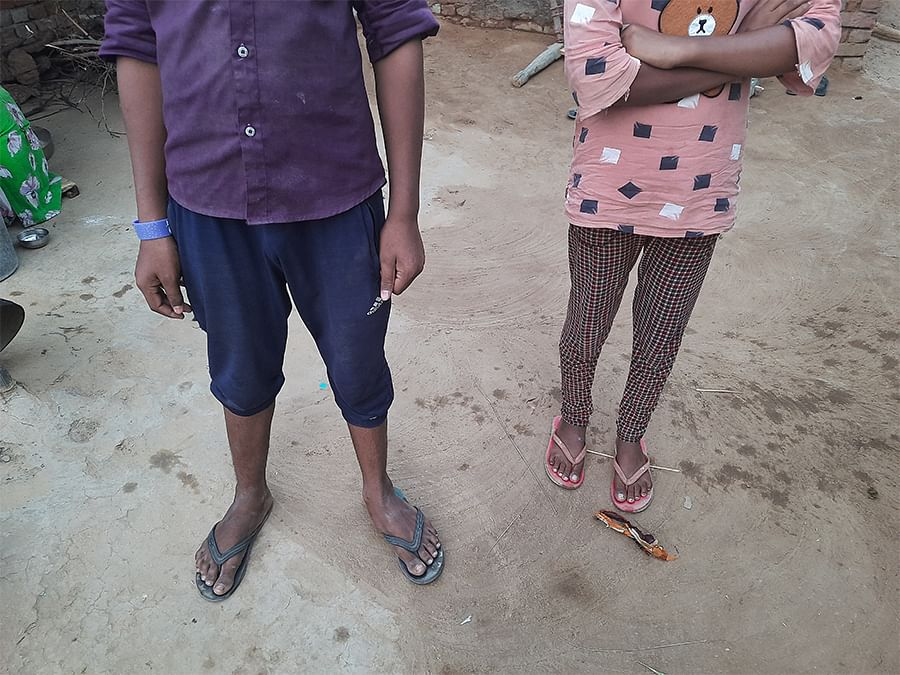 Valmiki children in the village.