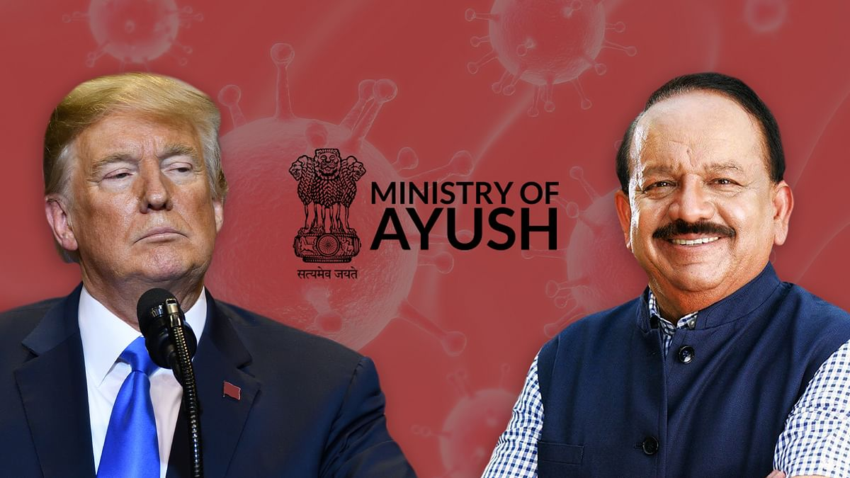 Between Trump's idea of modern medicine and India's traditional medicine, science is Covid's latest casualty