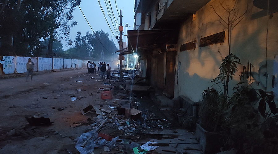 The Brijpuri main road two days after the violence.