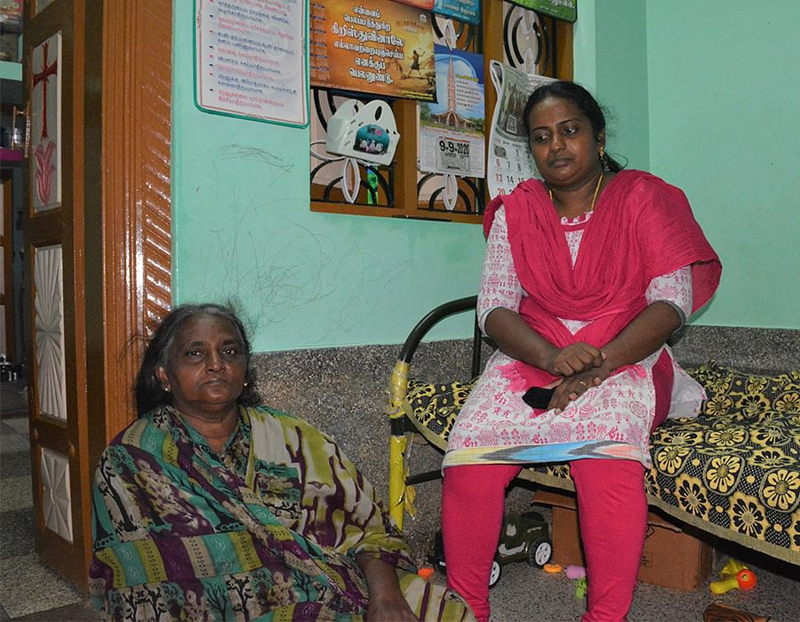 Persis (right) and her mother Selvarani.