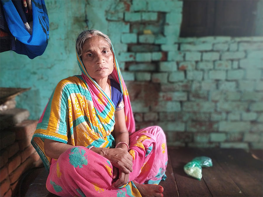 Kanchan Devi, who earns around Rs 2,500 a month.