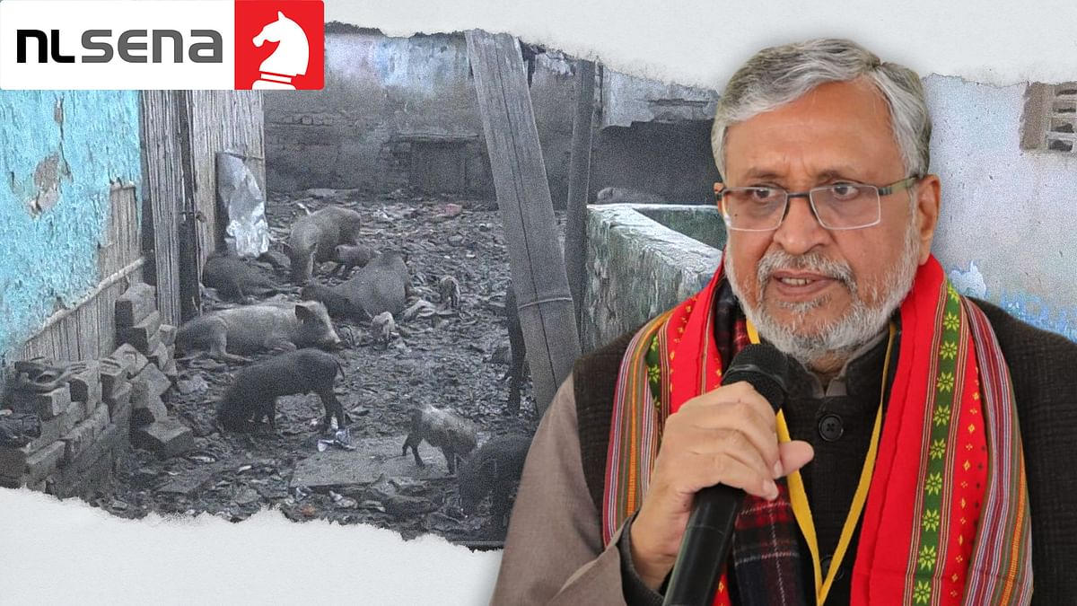 Sushil Modi says Bihar is open defecation free. If only he looked outside his door