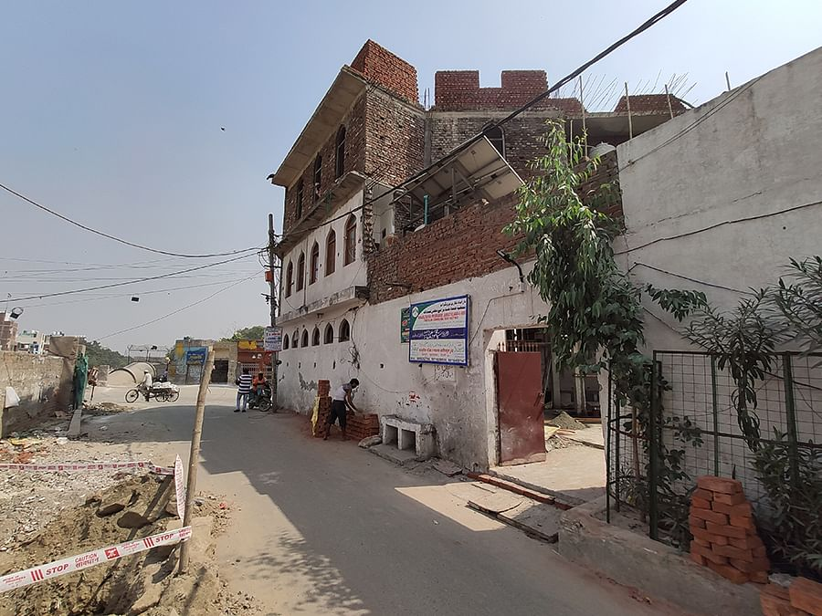Farooqia Masjid in Brijpuri. The adjacent road was the site of an anti-CAA protest in January and February this year.