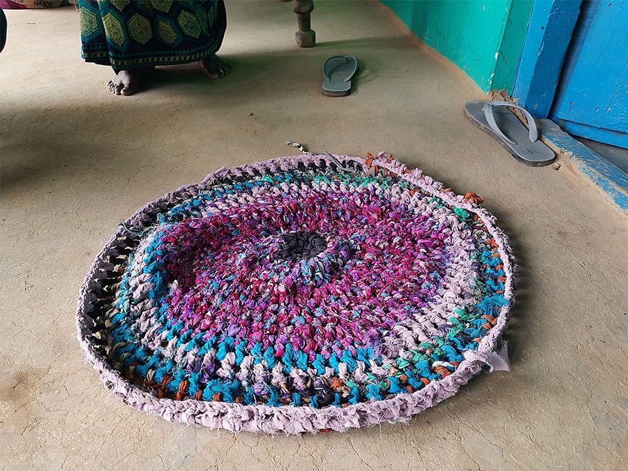 A mat woven by Asha.