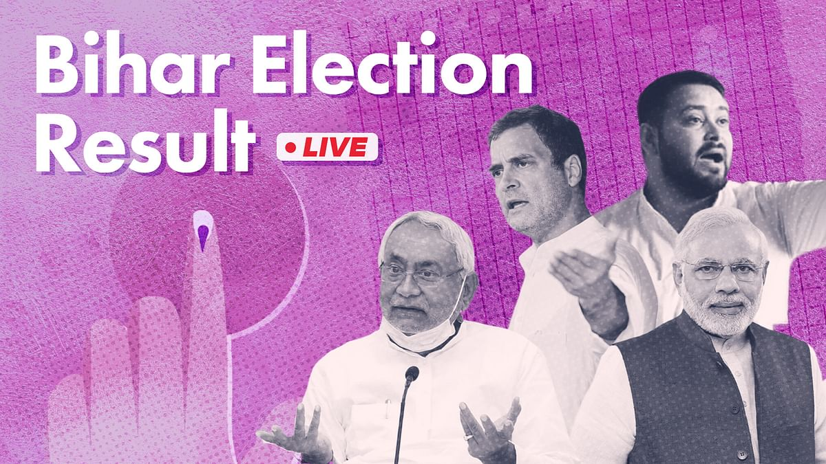 Live: How TV news channels are covering the Bihar election results