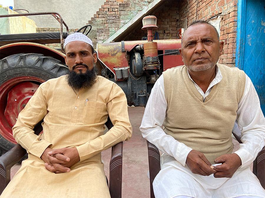Afsaruddin Mukhia, left, with Aalim in Rotan.