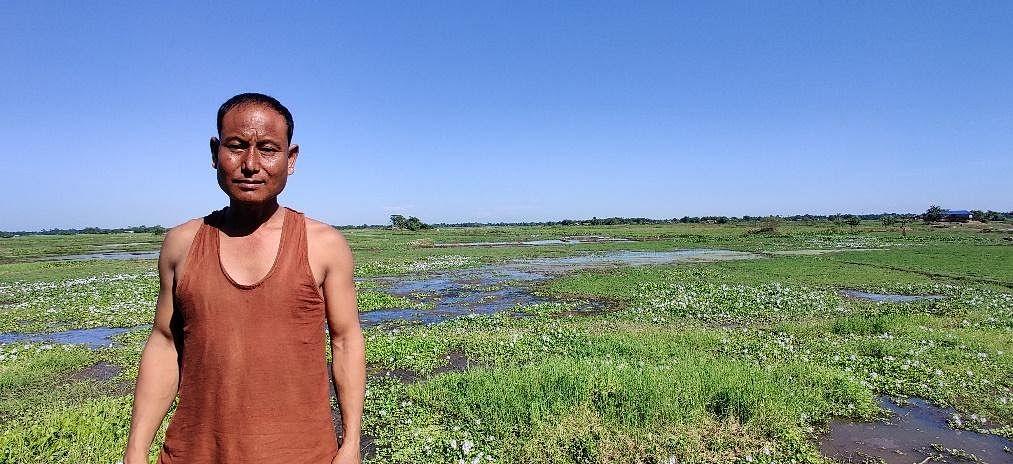 Pradeep Mili's farmland is underwater for half the year.