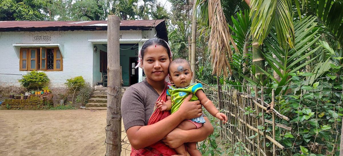 Devika Borgohain with her daughter, Mayuri.