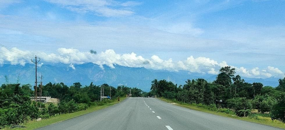 The highway from North Lakhimpur to Dhemaji.