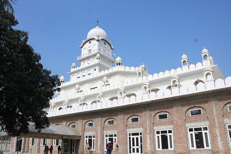 Nanaksar Gurudwara at the Ek Onkar Ashram in Karnal.