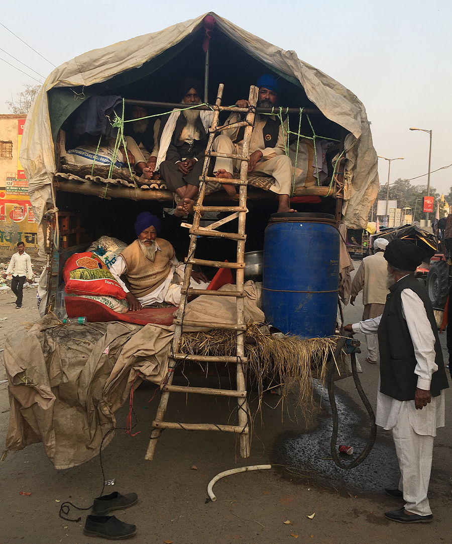 These trolleys are our homes till the laws are withdrawn, said Amreek Singh, a farmer from Mohali.