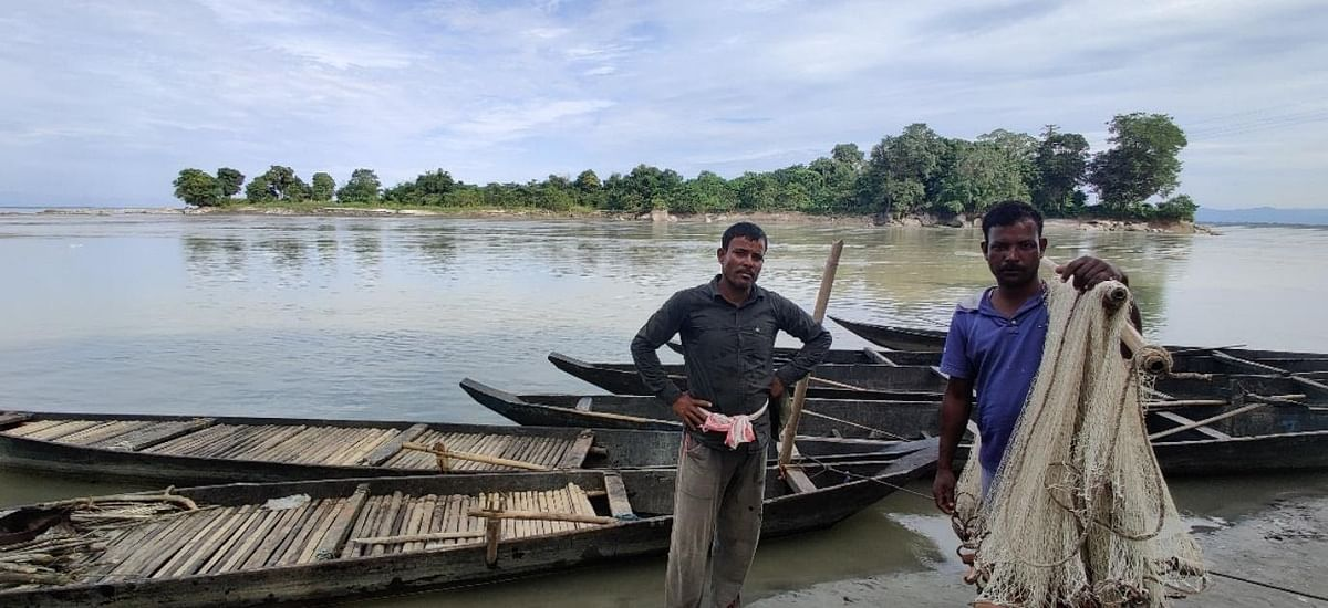 Tritho Das and fellow villager Nipen Das depend entirely on the river for livelihood.