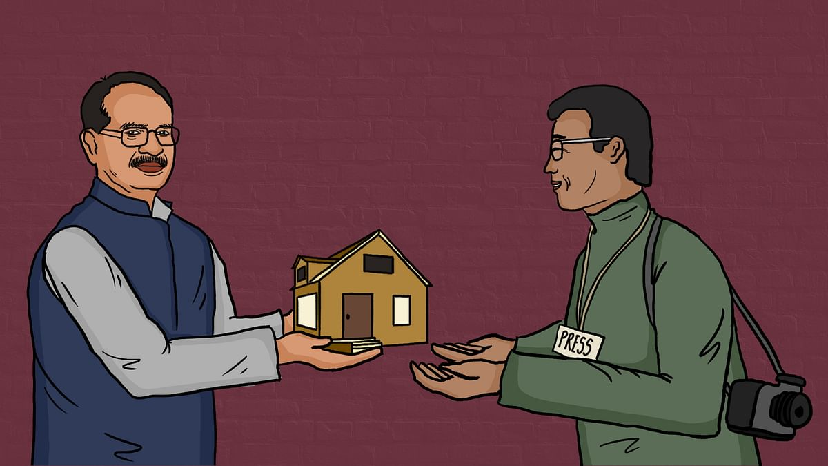 Why is Madhya Pradesh handing over upscale homes to journalists?