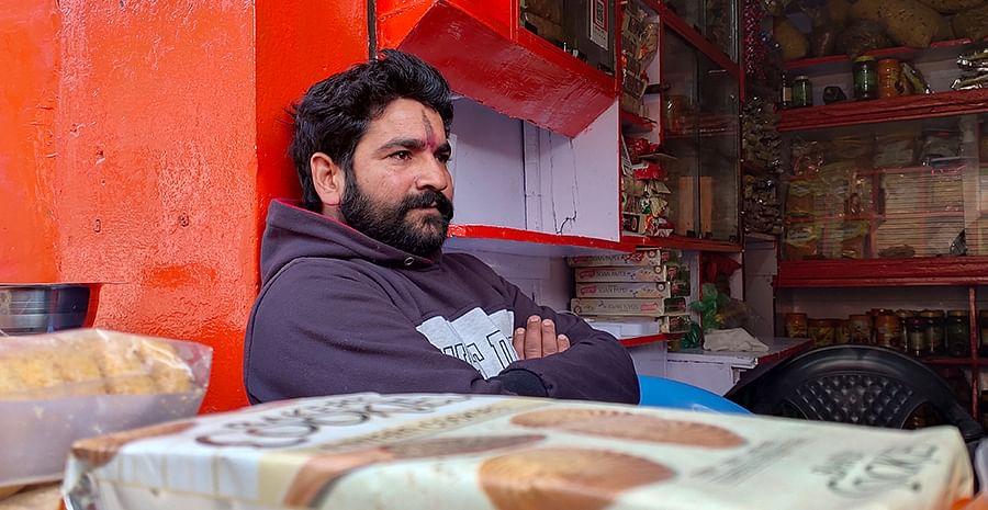 Monu Vishnoi in his shop.