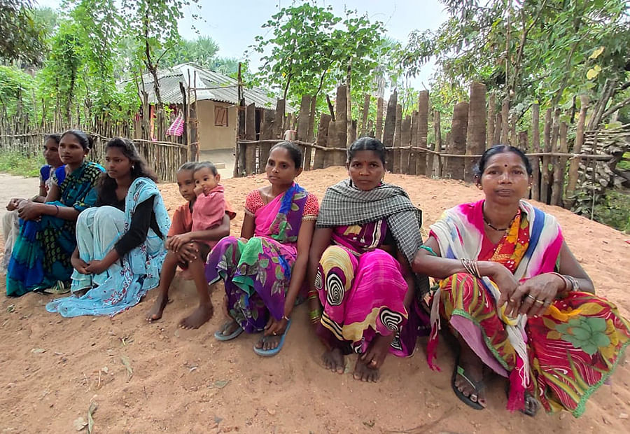 Family members of some of the Adivasis killed in the Sarkeguda massacre.