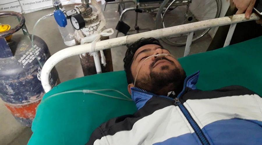 Junaid Rafiq in hospital.
