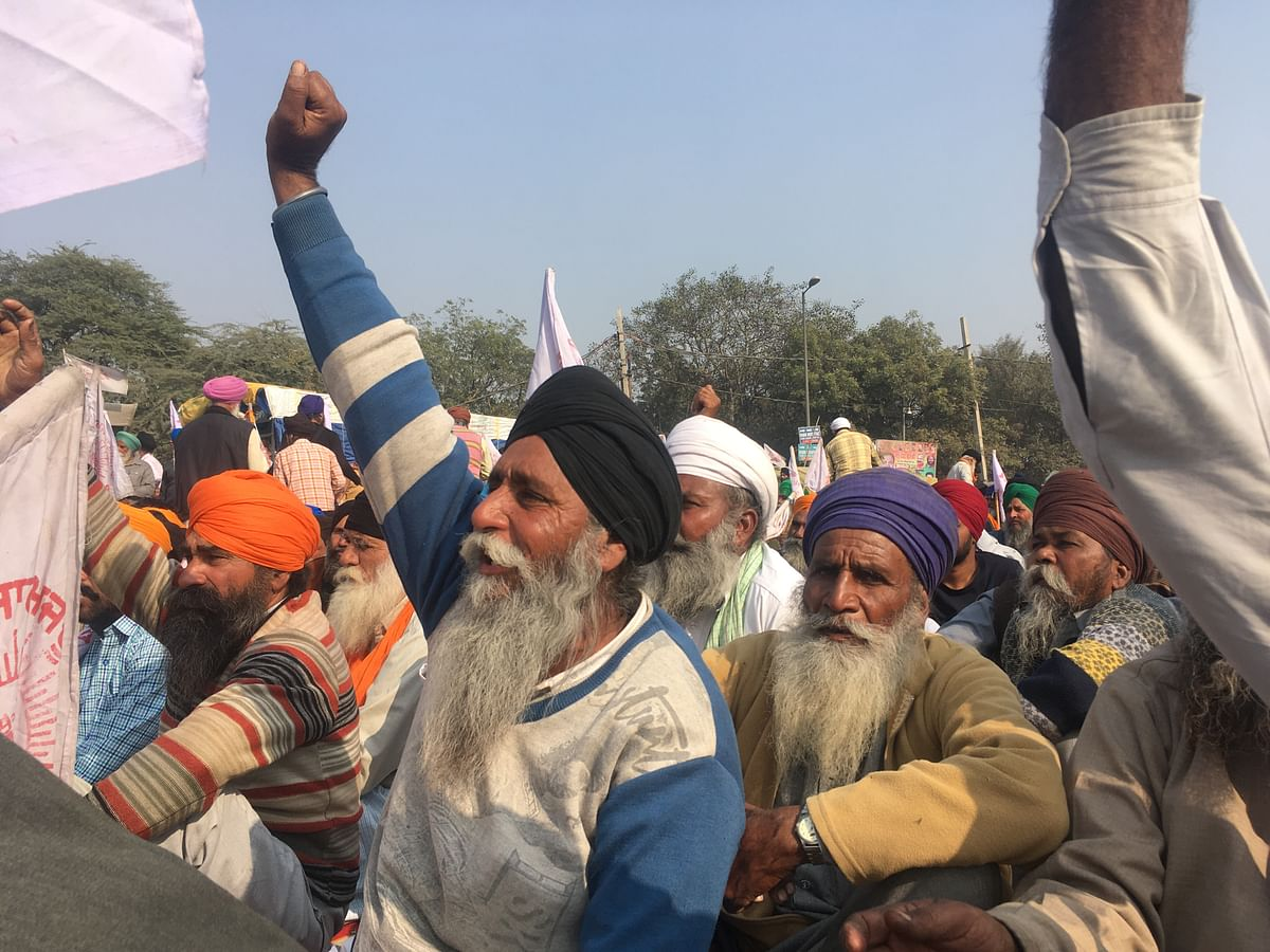 Rural residents of Punjab at Singhu say they will not return home until the government responds.