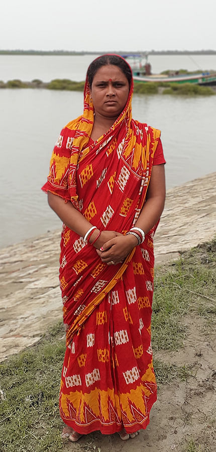 Sagarika Majhi, whose livelihood of breeding fish was destroyed after Amphan.