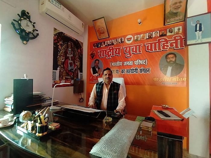 KD Sharma in his office.