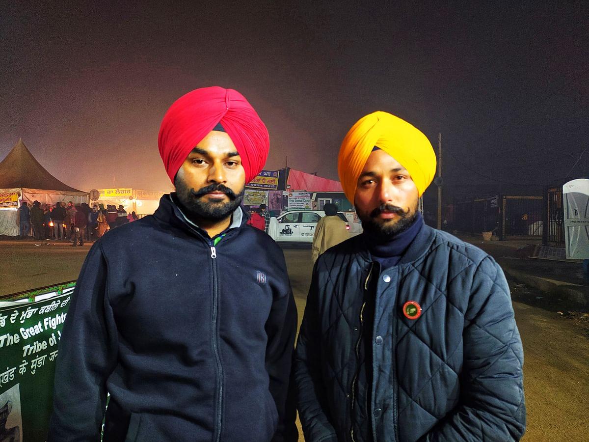 26 नवंबर से प्रदर्शन में शामिल है पटियाला से आए जगवीर सिंह और तरनवीर सिंह