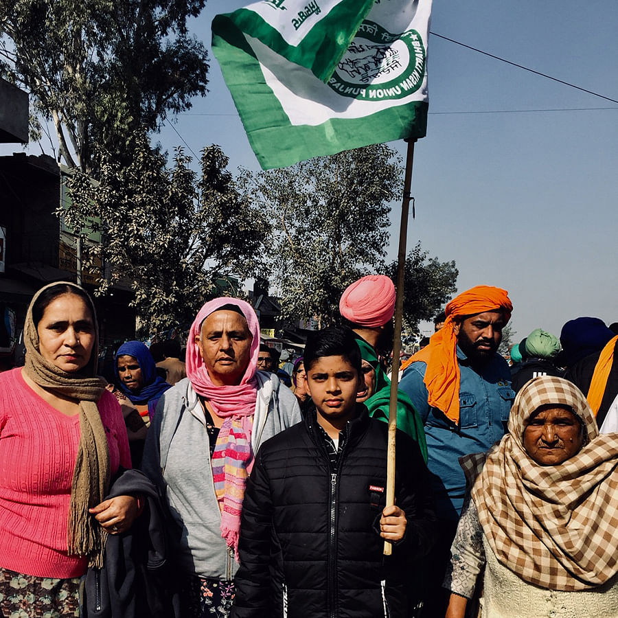 People from Moga, Punjab, at Singhu.