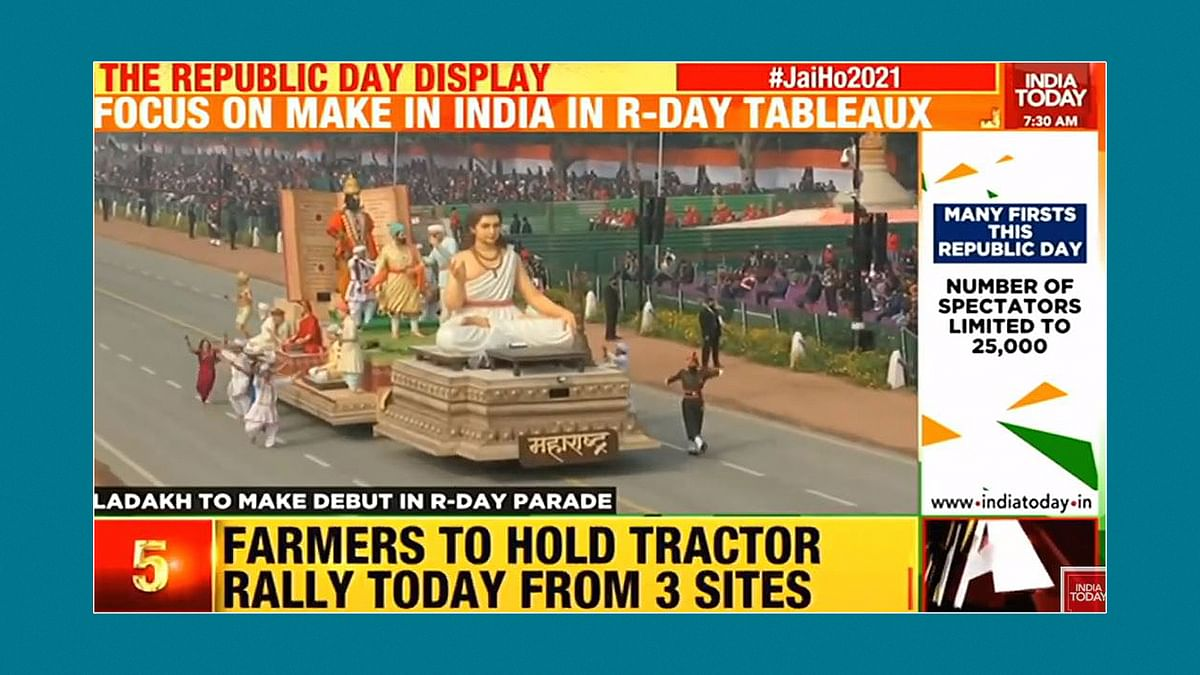 Republic Day parade vs tractor rally: What TV news channels showed and ignored