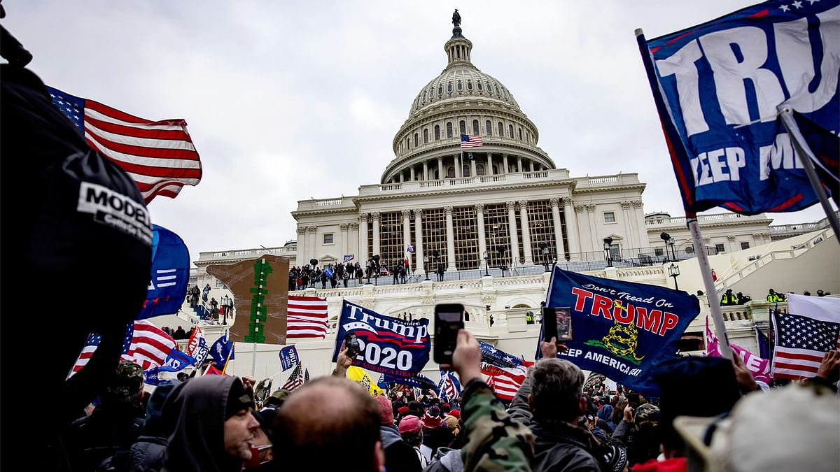 Since it happened in the West, global channels downplayed the Capitol riots