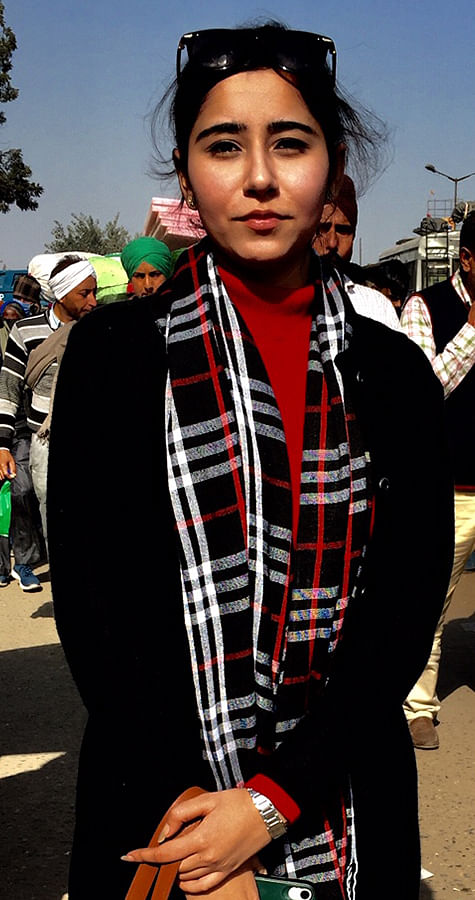 Man Mehek from Yamuna Nagar in Delhi isn't associated with farming, but is out to experience and support the historic protest.