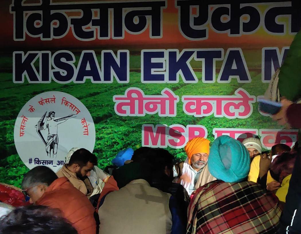 रात के तीन बजे किसानों से वार्ता करते रहे राकेश टिकैत
